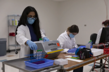 Processing coronavirus tests at the University of Arizona