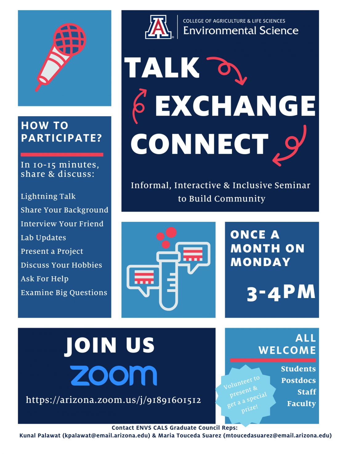 Talk, Exchange, Connect flyer