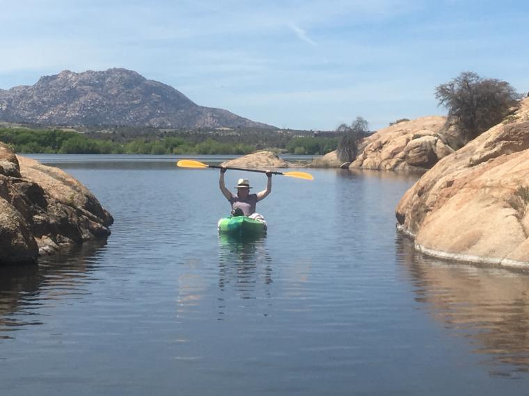 Melanie Swanson enjoys kayaking