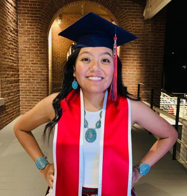 Navajo environmental science major graduating
