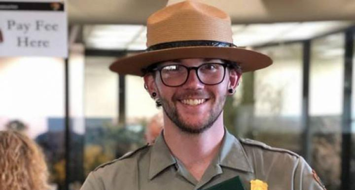 Jordan Camp works at the National Park Service